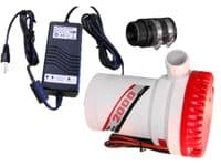 Flood-Buster Triplesafe sump and pump system with 12v battery back up pump